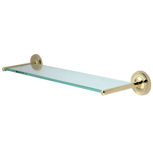 Kingston Tempered Bathroom Glass Shelves Polished Brass Glass Shelf BA319PB