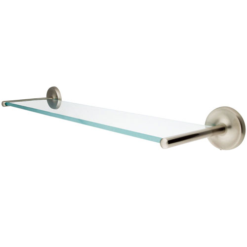 Kingston Brass Tempered Bathroom Glass Shelves Satin Nickel Glass Shelf BA319SN