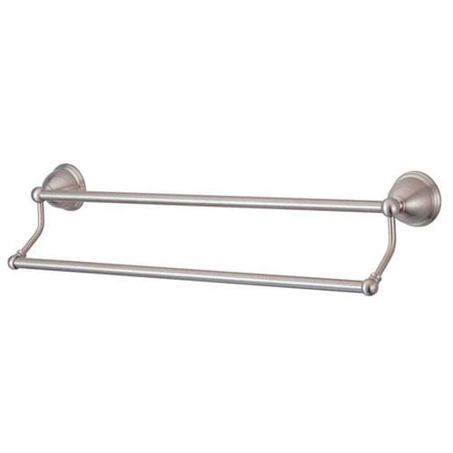 Satin nickel bathroom accessories