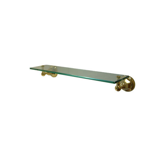 Kingston Tempered Bathroom Glass Shelves Polished Brass Glass Shelf BA4819PB