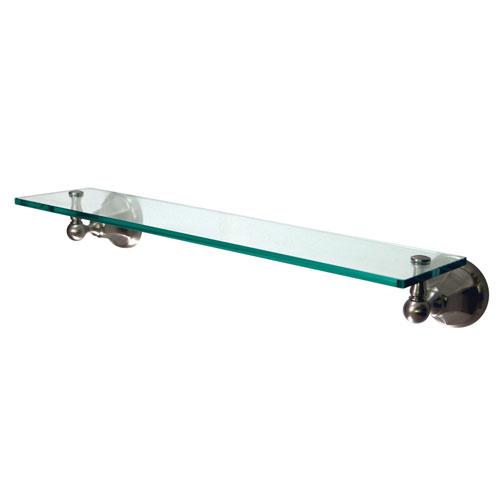 Kingston Tempered Bathroom Glass Shelves Satin Nickel Glass Shelf BA4819SN