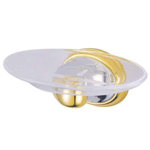 Kingston Chrome/Polished Brass Magellan ii wall mount soap dish BA625CPB