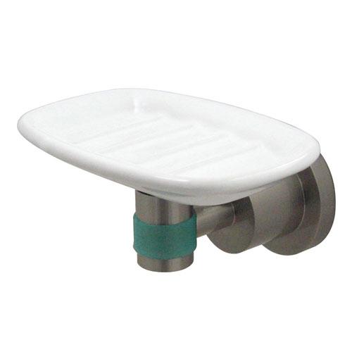 Kingston Brass Green Eden Satin Nickel Bathroom Accessory: Soap Dish BA8215SNDGL