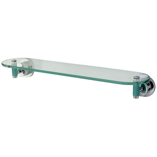 Kingston brass green eden chrome bathroom accessory 20 for Green glass bath accessories