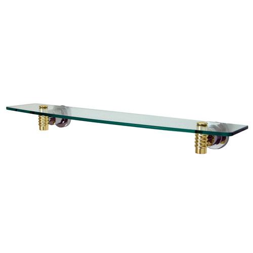 Kingston Tempered Bathroom Chrome with Brass trim Glass Shelf BAH8619CPB