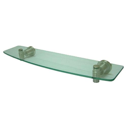 Kingston Tempered Bathroom Glass Shelves Satin Nickel Glass Shelf BAH8619SN