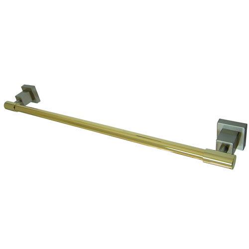 Kingston Brass Claremont Satin Nickel / Polished Brass 24