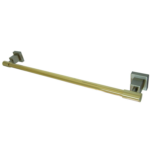 Kingston Brass Claremont Satin Nickel / Polished Brass 18