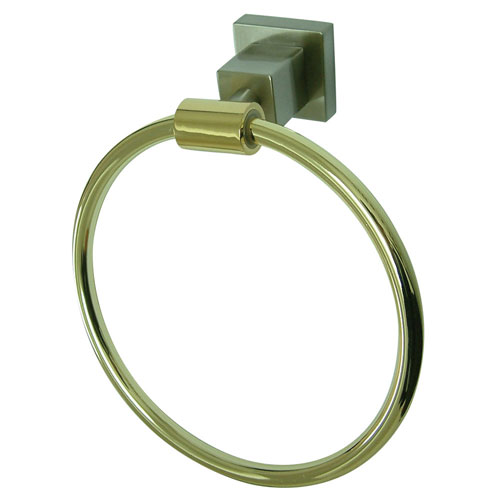 Kingston Brass Claremont Satin Nickel / Polished Brass 6