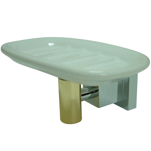 Kingston Brass Claremont Chrome / Polished Brass Soap Dish BAH8645CPB