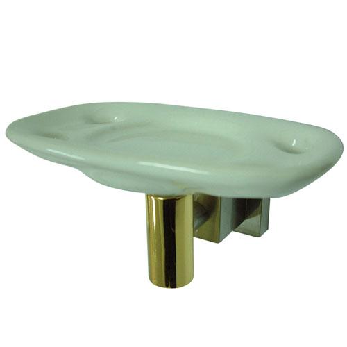 Kingston Satin Nickel and Polished Brass Toothbrush / Tumbler Holder BAH8646SNPB