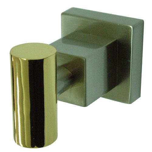 Kingston Brass Claremont Satin Nickel / Polished Brass Robe Hook BAH8647SNPB