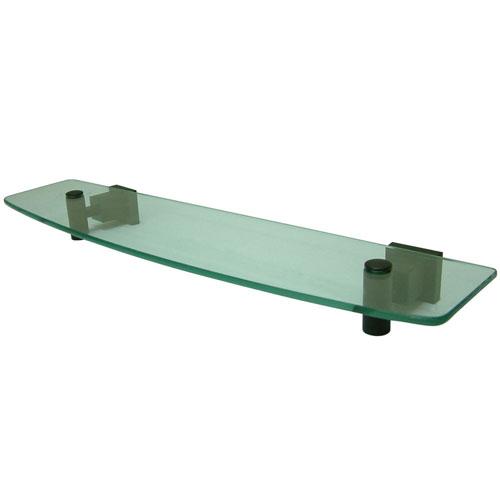 Kingston Brass Claremont Oil Rubbed Bronze Glass Shelf BAH8649ORB