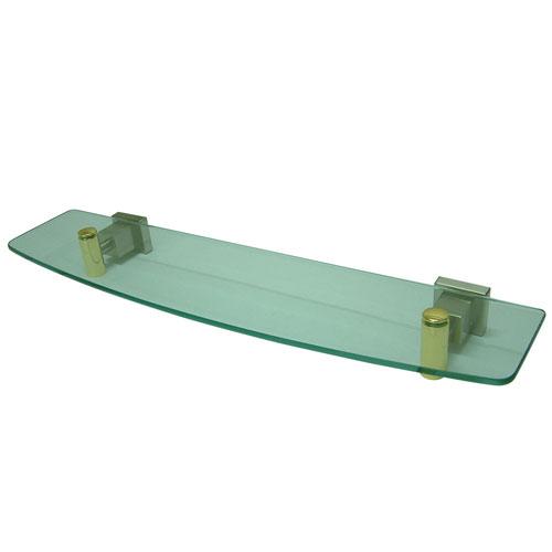 Kingston Brass Claremont Satin Nickel / Polished Brass Glass Shelf BAH8649SNPB