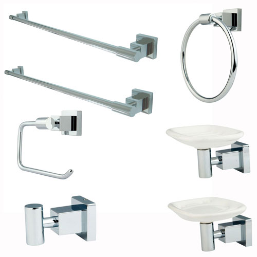 Kingston Brass Claremont Chrome Bathroom Accessory Combination BAHK8641C