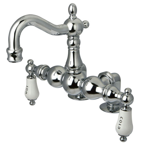 Kingston Brass Chrome Deck Mount Clawfoot Tub Faucet CC1096T1