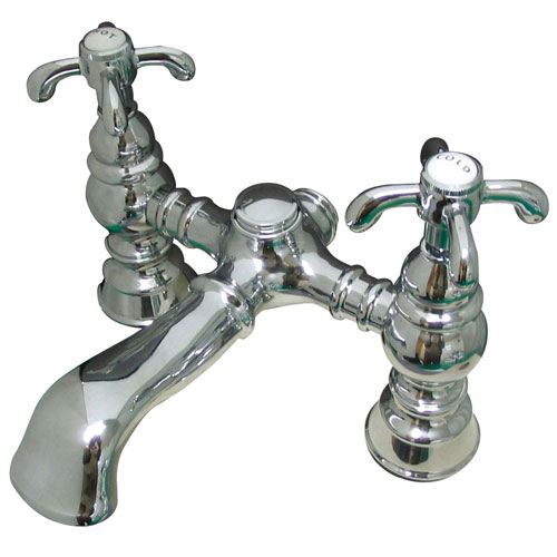 Kingston Brass Chrome Deck Mount Clawfoot Tub Faucet CC1134T1