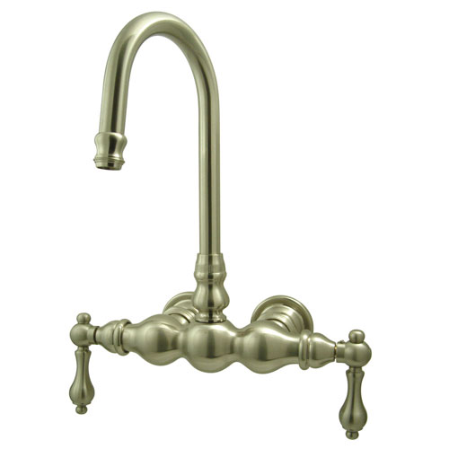 Kingston Brass Satin Nickel Wall Mount Clawfoot Tub Filler Faucet CC1T8