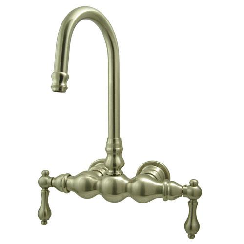 Kingston Brass Satin Nickel Wall Mount Clawfoot Tub Filler Faucet CC1T8