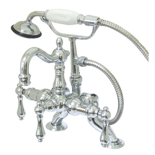 Kingston Brass Chrome Deck Mount Clawfoot Tub Faucet w hand shower CC2008T1