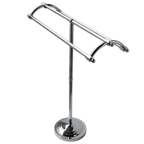 Kingston Brass Chrome pedestal freestanding Round Plate Towel Rack CC2271
