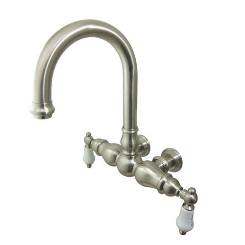 Kingston Brass Satin Nickel Wall Mount Clawfoot Tub Faucet CC3003T8