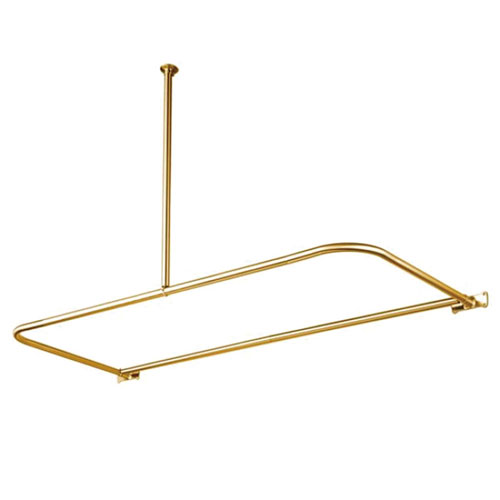 Kingston Brass Polished Brass Shower Enclosure D-Type Shower Rod CC3132