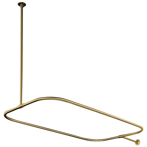 Kingston Brass Polished Brass Shower Enclosure Rectangular Shower Rod CC3152