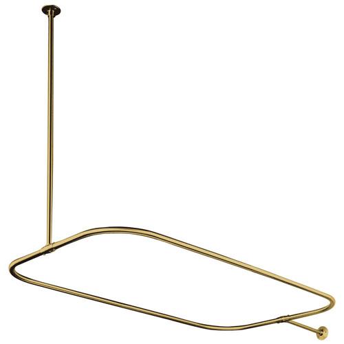 Kingston Brass Polished Brass Shower Enclosure Rectangular Shower Rod CC3152