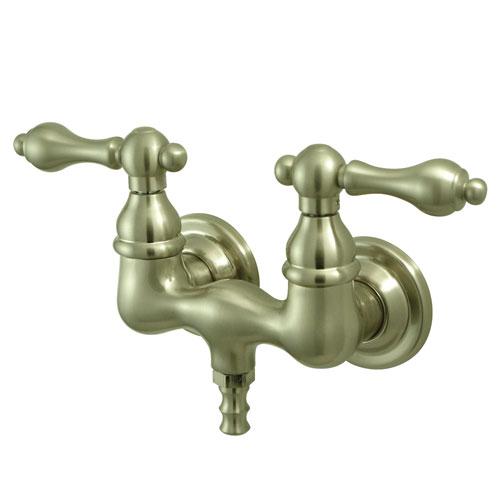 Kingston Brass Satin Nickel Wall Mount Clawfoot Tub Filler Faucet CC31T8