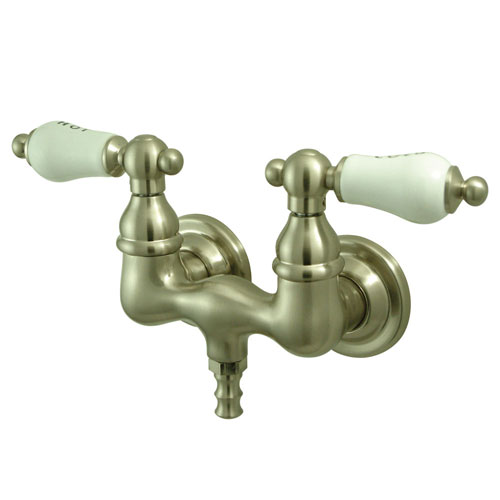Kingston Brass Satin Nickel Wall Mount Clawfoot Tub Filler Faucet CC33T8