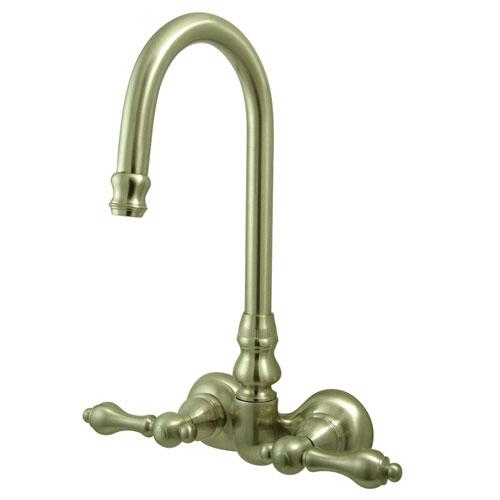 Kingston Brass Satin Nickel Wall Mount Clawfoot Tub Filler Faucet CC71T8