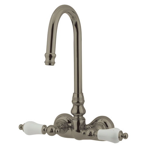 Kingston Brass Satin Nickel Wall Mount Clawfoot Tub Filler Faucet CC75T8