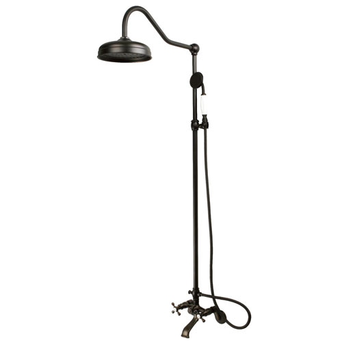 Kingston Brass Oil Rubbed Bronze Clawfoot Tub Faucet Shower Combination CCK2665
