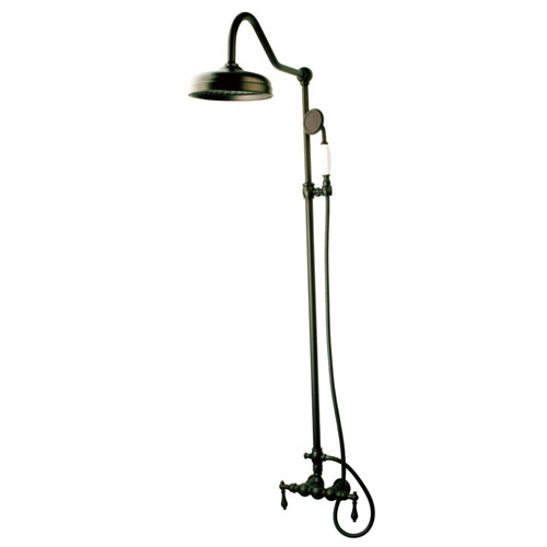 Kingston Brass Oil Rubbed Bronze Clawfoot Tub Faucet Shower Combination CCK6175