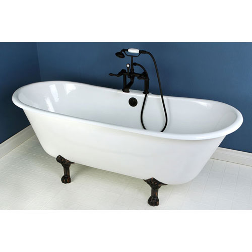 67 Quot Cast Iron Slipper Clawfoot Tub And Oil Rubbed Bronze