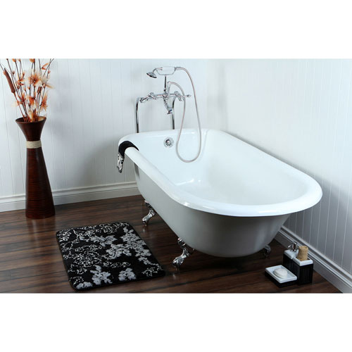 67 Clawfoot Tub With Freestanding Chrome Tub Filler Hardware Pack