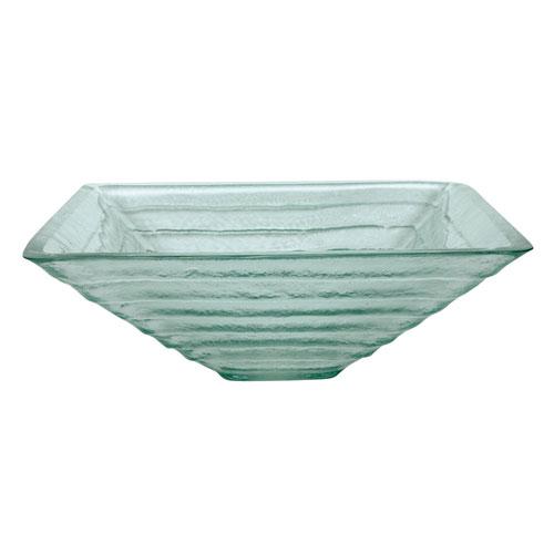 Crystal Glacier Glass Vessel Bathroom Sink without Overflow Hole CV1616VCG