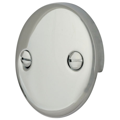 Standard Tub Size And Other Important Aspects Of The Bathroom: Kingston Brass Chrome Tub 2 Hole Overflow Cover Plate