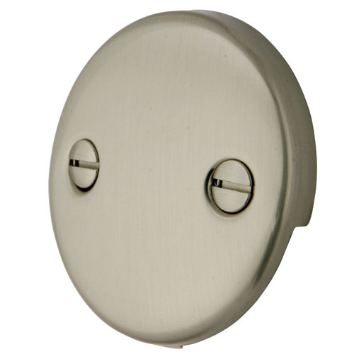 Kingston Brass Satin Nickel Tub 2 Hole Overflow Cover Plate DTT108