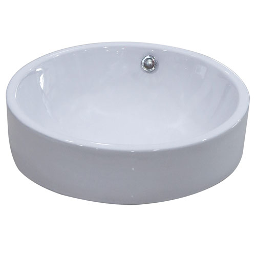 Kingston Parisian White China Vessel Bathroom Sink without Overflow Hole EV4254
