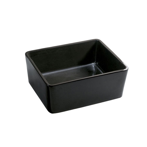 Kingston Elements Black China Vessel Bathroom Sink without Overflow Hole EV4458K
