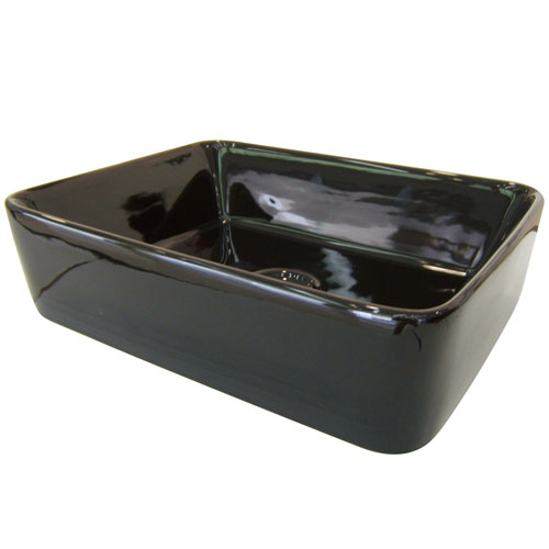 Kingston French Black China Vessel Bathroom Sink without Overflow Hole EV5102K