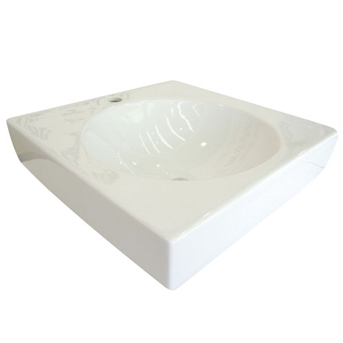 Kingston White Beverly White China Vessel Bathroom Sink with Faucet Hole EV7018