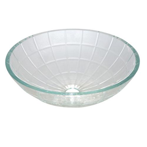 Kingston Meridian Crystal Glass Vessel Bathroom Sink w/o Overflow Hole EVSMFC1