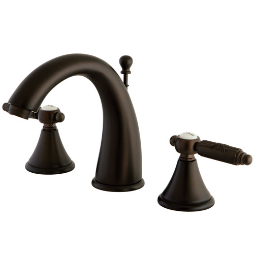 Kingston Brass Oil Rubbed Bronze 2 Handle Widespread Bathroom Faucet FS7985GL