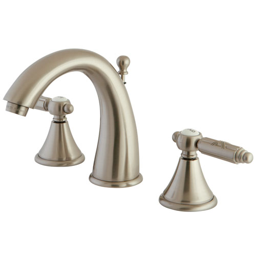 Kingston Brass Satin Nickel 2 Handle Widespread Bathroom Faucet FS7988GL