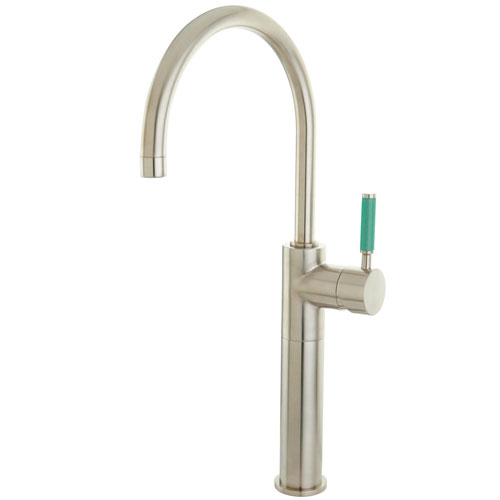Kingston Green Eden Satin Nickel Single Handle Vessel Sink Faucet FS8038DGL