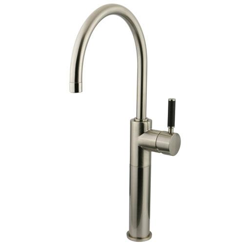 Kingston Kaiser Satin Nickel Single Handle Bathroom Vessel Sink Faucet FS8038DKL