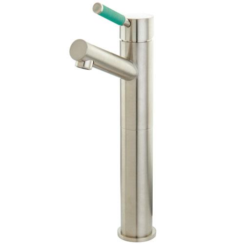 Kingston Green Eden Satin Nickel Single Handle Vessel Sink Faucet FS8418DGL
